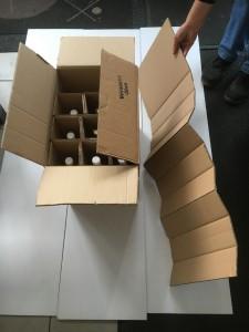 Ressourcenschonende Fertigung von Gefache und Flaschenkarton nach Mass