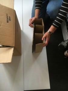 Herstellung von Flaschenkartons und Gefachen mit 3, 6, 12 oder mehr Flaschenfächern in einem Karton nach Maß