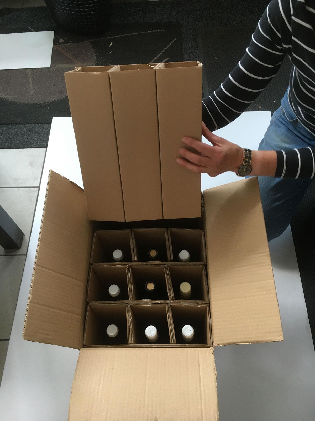kartons zur verpackung von flaschen karton nach ma. Black Bedroom Furniture Sets. Home Design Ideas